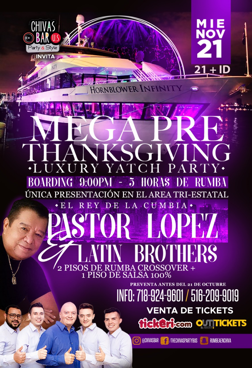 Mega Pre Thanksgiving Luxury Yacht Party