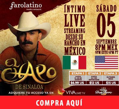 El emblemático cantante dará un concierto íntimo acompañado de sus caballos bailadores desde su rancho en México para el mundo entero el próximo sábado 5 de septiembre