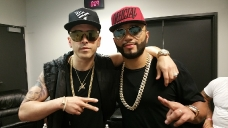 04-22-2016 Alex Sensation La Mega Mezcla Back Stage Prudential Center