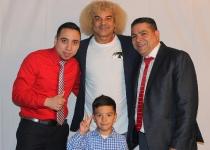 """05-08-2016 Carlos """"El Pibe"""" Valderrama en Queens por los niños de Barranquilla, Colombia"""