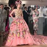 Maya Henry at Dolce & Gabanna Fashion Show