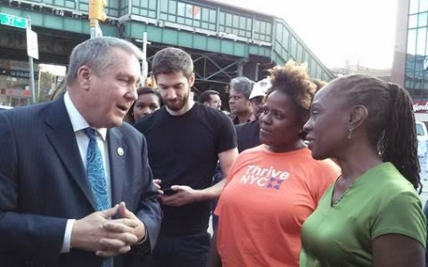 FIRST Lady and Dromm Talk THRIVE IN Jacckson Heights