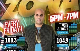 """El espacio musical """"La Zona X"""" de Univisión Radio continua creciendo y llegando a los principales mercados latinos de la nación Americana."""