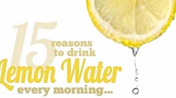 15 razones por las que debes beber agua de limón cada mañana.