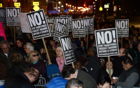Thousands joined Mayor DeBlasio in pre-inauguration protest [VIDEO]